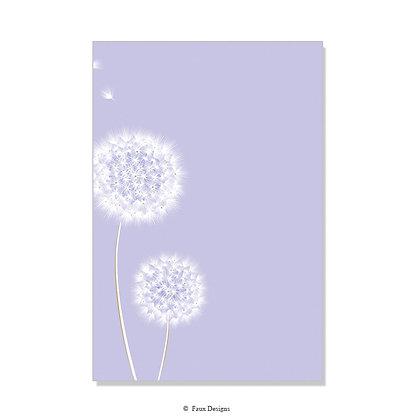 Wish Lavender Invitation - Blank