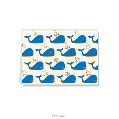 Whale Folded Note