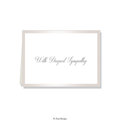 With Deepest Sympathy - CB Pearl on White