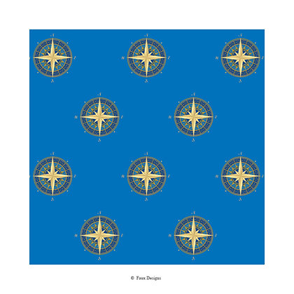 Compass Rose Gift Wrap