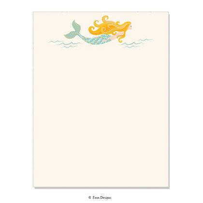 Mermaid 8.5 x 11 Sheet