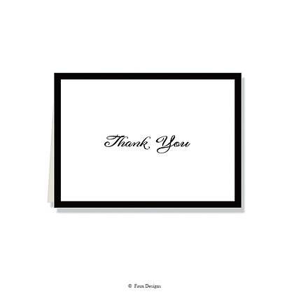 Thank You - Black on White