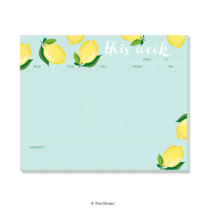 Lemons Weekly Pad - Set of 6