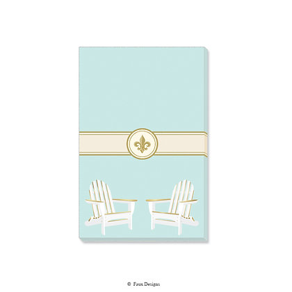 White Adirondack Gift Pad