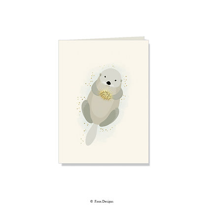Otter Folded Note