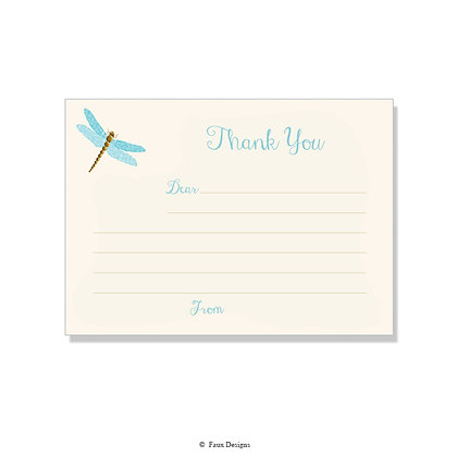 Dragonfly Fill-in Thank You Note