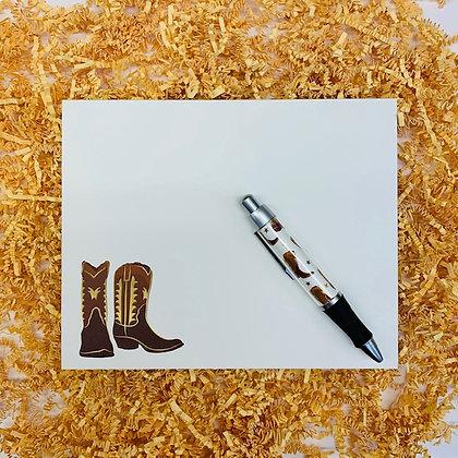 Cowboy Boots Desk Set