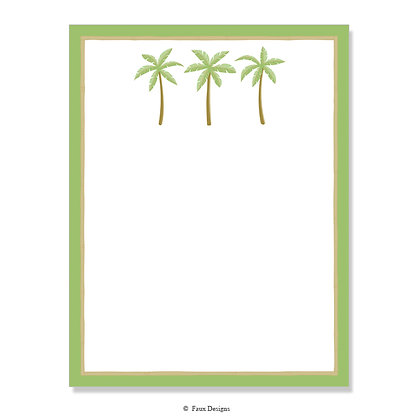 Palm Trees with Border 8.5 x 11 Sheet
