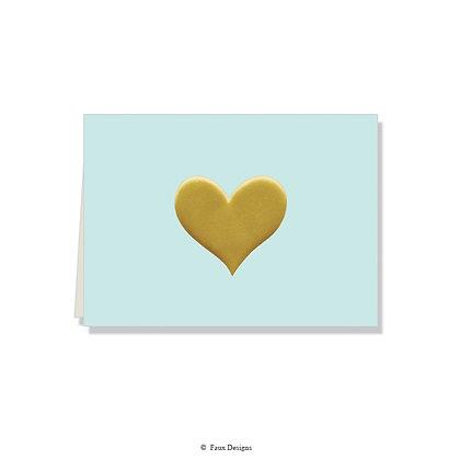 Heart Powder Folded Note