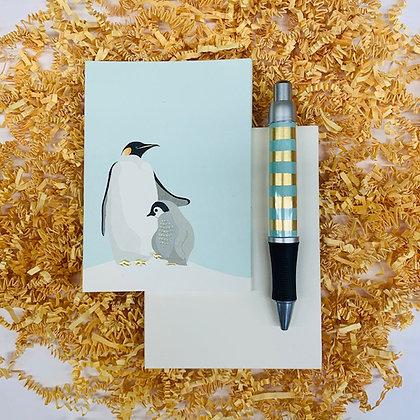 Penguin Folded Note & Pen Set
