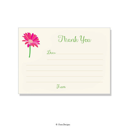 Gerber Fill-in Thank You Note