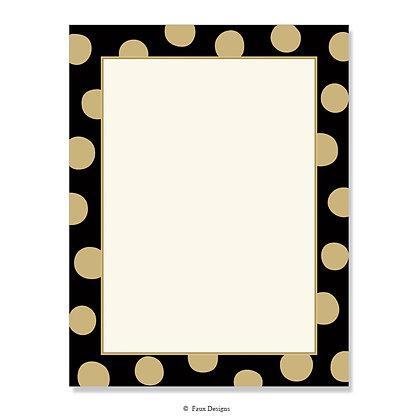 Felicity Black 8.5 x 11 Sheet