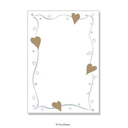 Amore Gold Hearts Invitation