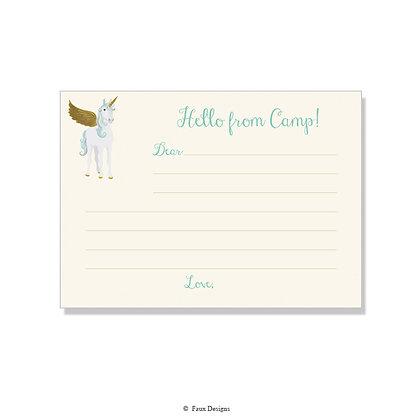 Unicorn Fill-in Camp Note