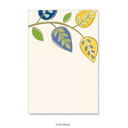 Arboretum Blue, Yellow Invitation - Blank