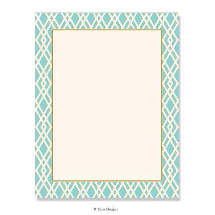 Trellis Aqua Blue 8.5 x 11 Sheet
