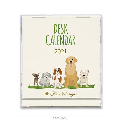 2021 Desk Calendar Dogs