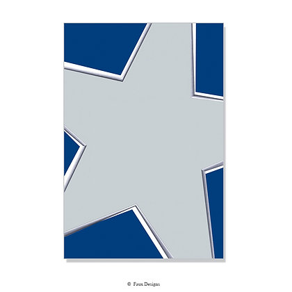Sparkle Blue, Silver Invitation - Blank