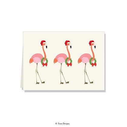 Festive Flamingo Folded Note
