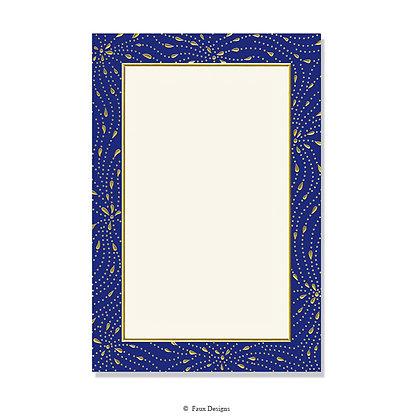 Meridian Navy Blue Invitation - Blank