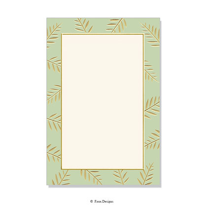 Sprig Moss Green Invitation - Blank