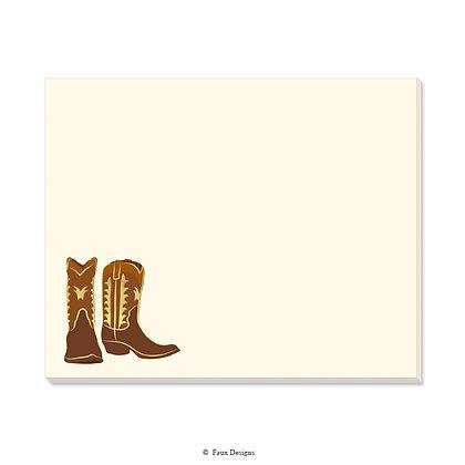 Cowboy Boots Desk Pad