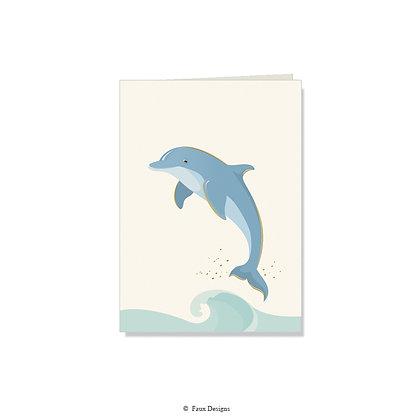 Dolphin Folded Note
