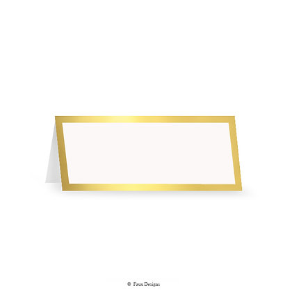 Classic Borders Gold on White Placecard