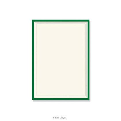 Exeter Hunter Green Invitation - Blank