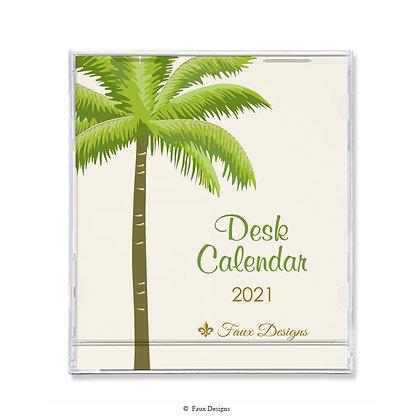 2021 Desk Calendar Palm