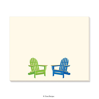 Adirondack Chairs Desk Pad