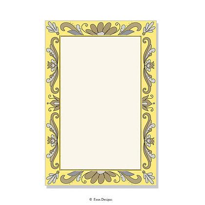 Tuscany Yellow Invitation - Blank