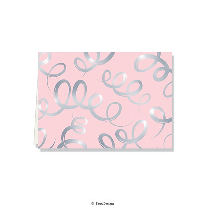 Champagne Blush Folded Note