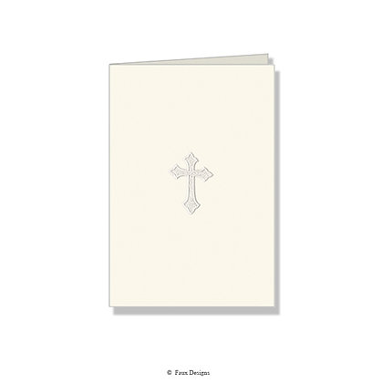 Cross Pearl on Ivory Folded Note