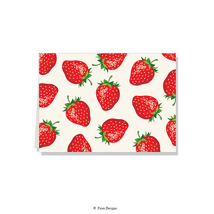 Strawberries Folded Note