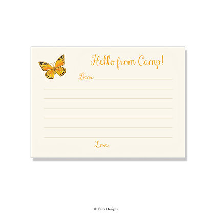 Butterfly Fill-in Camp Note