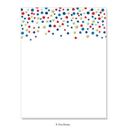 Confetti Stars 8.5 x 11 Sheet