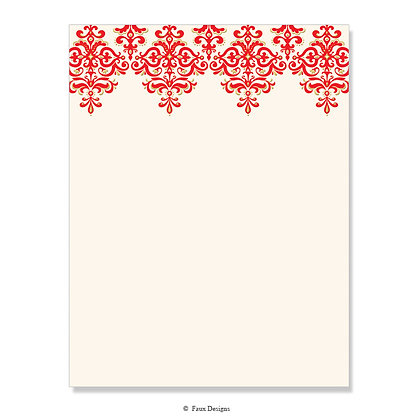 Contessa Red 8.5 x 11 Sheet