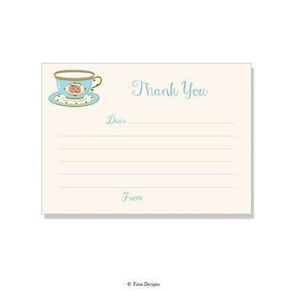 Tea Cup Fill-in Thank You Note