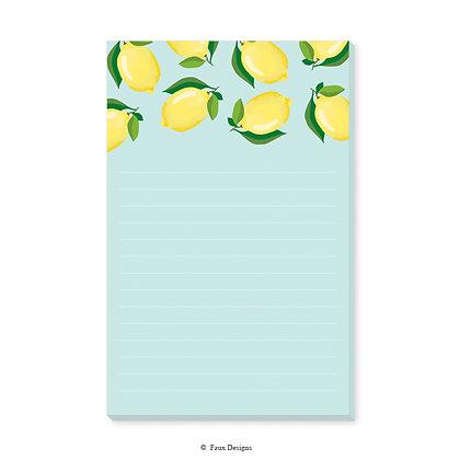Lemons Memo Pad
