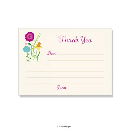 Meadow Fill-in Thank You Note