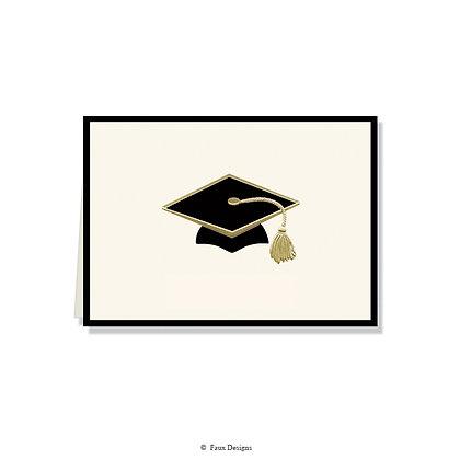 Grad Cap Folded Note