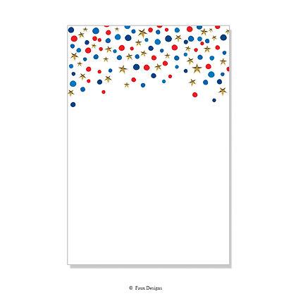 Confetti Stars Invitation - Blank