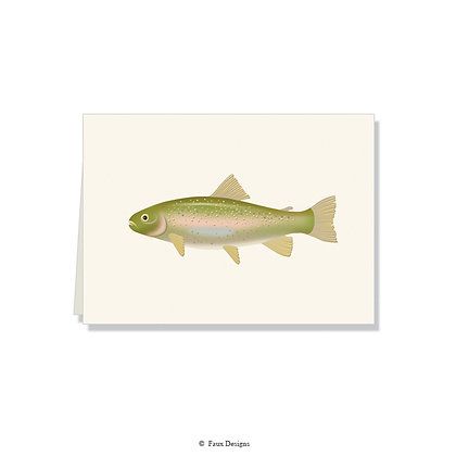 Trout Folded Note