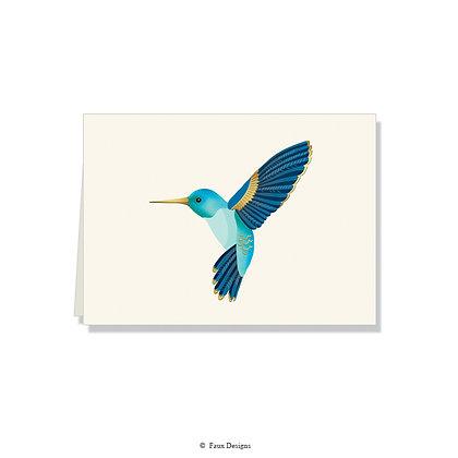 Hummingbird Folded Note