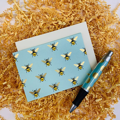 Bees Folded Note & Pen Set