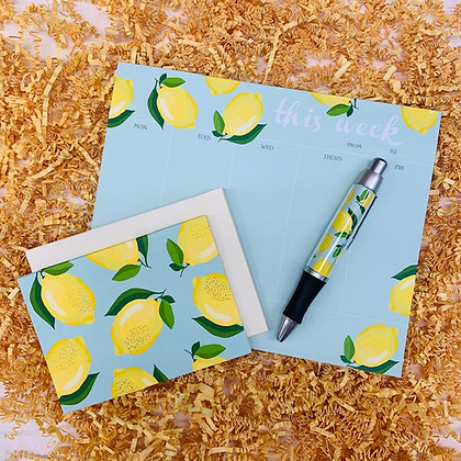 Lemons Weekly Pad & Folded Note Set