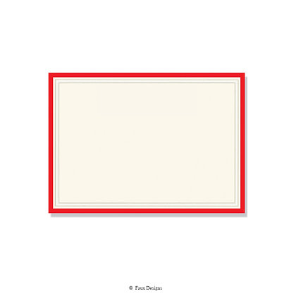 Exeter Red Invitation - Blank