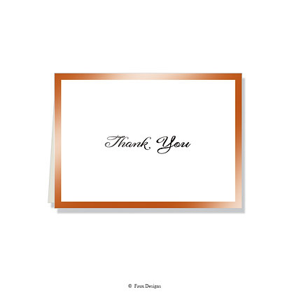 Thank You - Copper on White