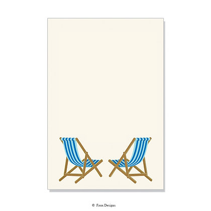 Beach Chairs Invitation - Blank